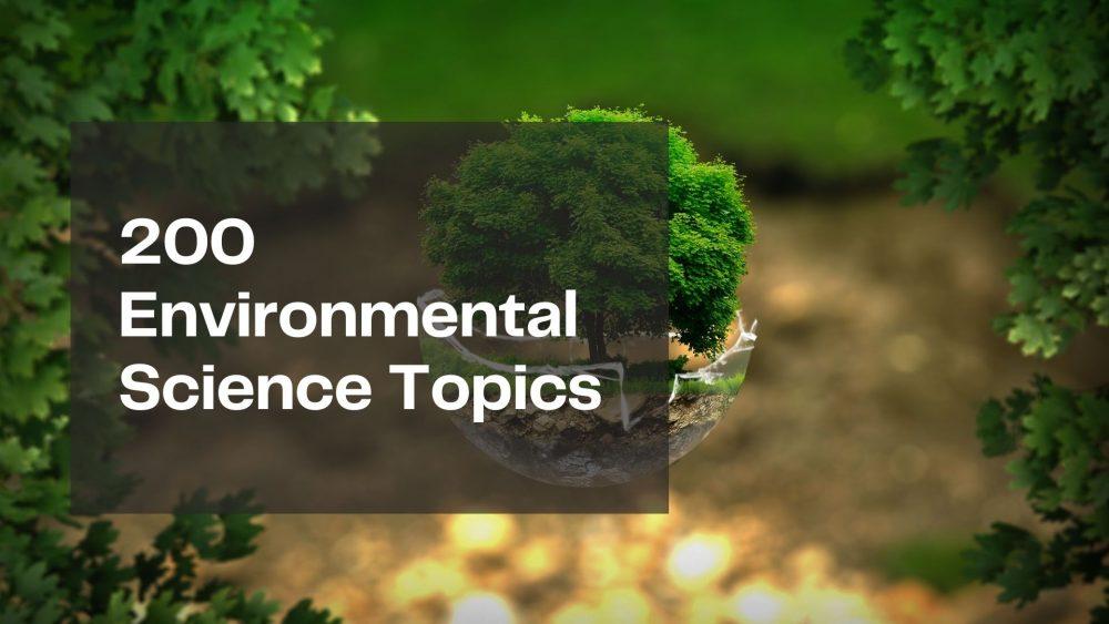 Environmental Science Topics