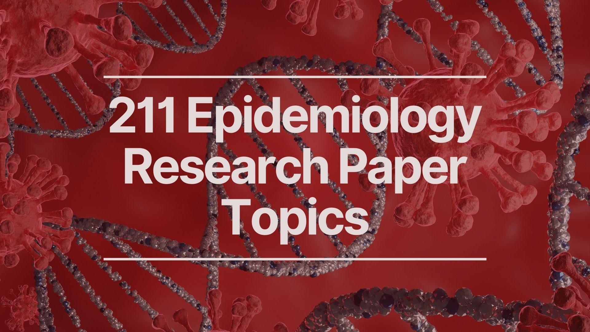 epidemiology topics